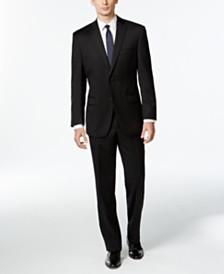 Calvin Klein Black Solid Modern-Fit Suit