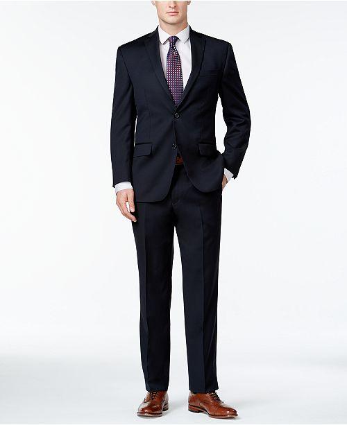 Michael Kors Classic-Fit Suit Navy Solid Suit