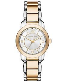 Women's Janey Two-Tone Stainless Steel Bracelet Watch 33mm MK3487