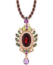 Le Vian Crazy Collection® Garnet (5-1/3 ct. t.w) and Multi-Stone (1-3/4) Pendant in 14k Rose Gold