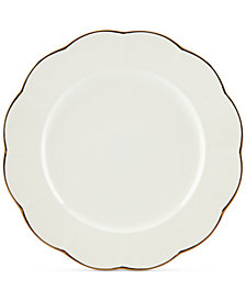 Marchesa by Lenox Dinnerware Ironstone Shades of White Dinner Plate
