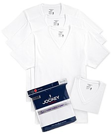 Men's Tagless 3-Pack V-Neck T-Shirts + 1 Bonus Shirt, Created for Macy's