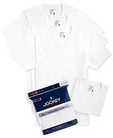 Men's Tagless 3-Pack V-Neck T-Shirts + 1 Bonus Shirt, Created for Macy's