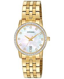 Women's Gold-Tone Stainless Steel Bracelet Watch 27mm EU6032-51D