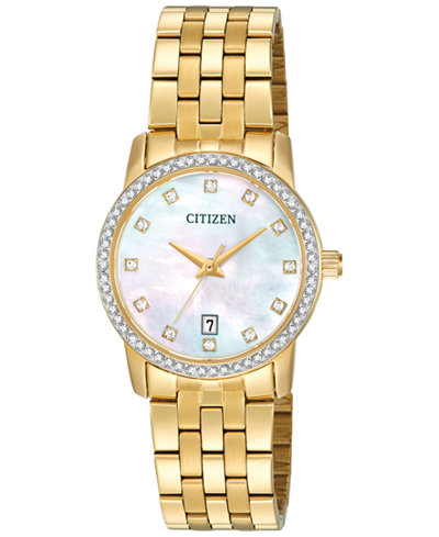 Citizen Women's Gold-Tone Stainless Steel Bracelet Watch 27mm EU6032-51D