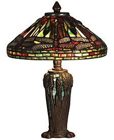 Dale Tiffany  Dragonfly Jewel Metal & Glass Table Lamp