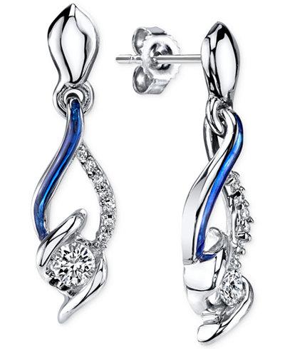 Sirena® Jeans Diamond Drop Earrings in 14k White Gold (1/4 ct. t.w.)