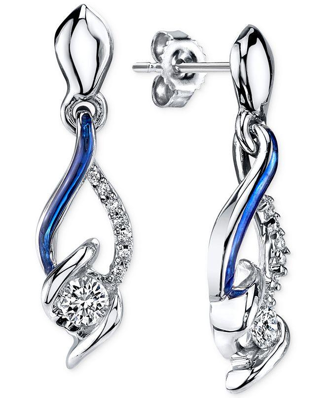 Macy's Sirena® Jeans Diamond Drop Earrings in 14k White Gold (1/4 ct. t.w.)