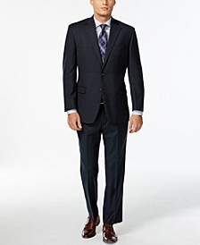 Navy Plaid Big and Tall Suit Separates