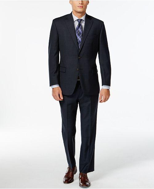 Lauren Ralph Lauren Navy Plaid Big and Tall Suit Separates