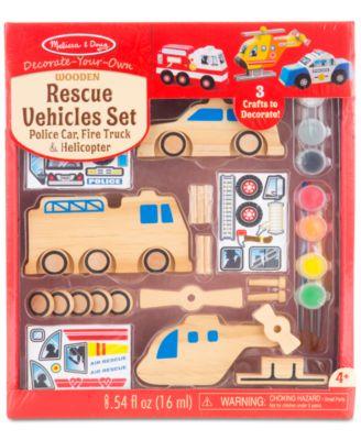 Melissa and Doug Kids' Rescue Vehicles Set