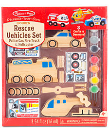 Melissa and Doug Kids' Rescue Vehicles Set