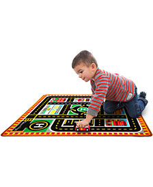 Melissa and Doug Kids' Round The City Rescue Rug