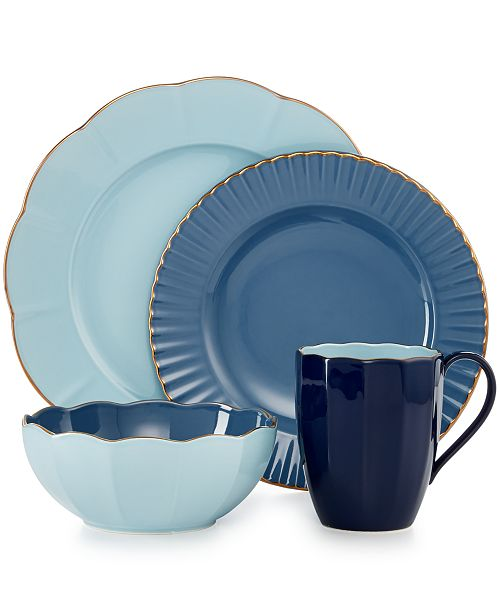 8bbc33f222 Marchesa by Lenox Dinnerware, Shades of Blue Collection & Reviews ...