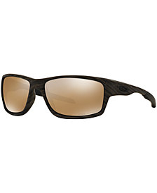 Oakley Polarized Canteen Woodgrain Sunglasses, OO9225