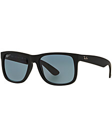 Ray-Ban Polarized Sunglasses, RB4165 54 JUSTIN