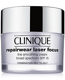 Clinique Repairwear Laser Focus Line Smoothing Cream Broad Spectrum SPF 15 - Combination Oily to Oily, 1.7 oz