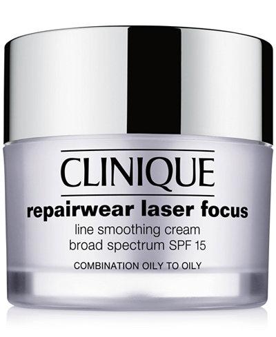Clinique Repairwear Laser Focus Line Smoothing Cream Broad Spectrum SPF 15 - Combination Oily to Oily, 1.7 oz