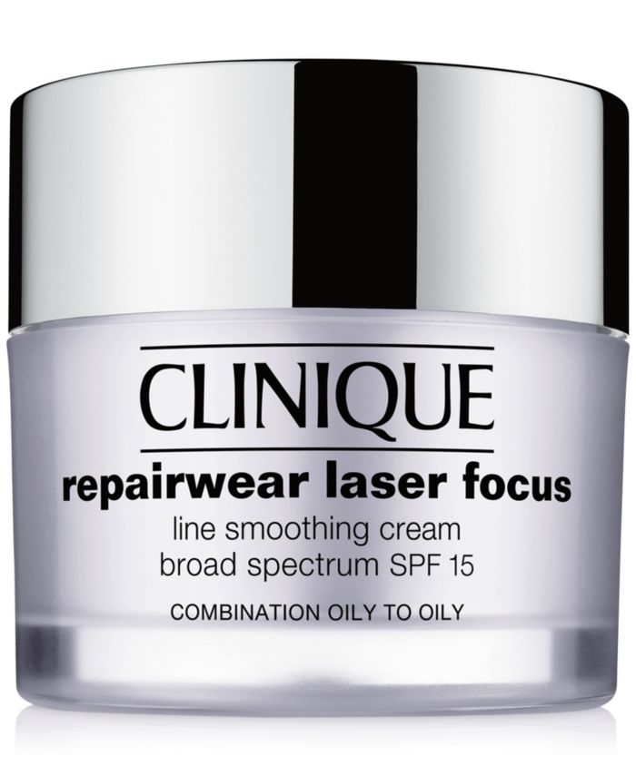 Clinique Repairwear Laser Focus Line Smoothing Cream Broad Spectrum SPF 15 - Combination Oily to Oily, 1.7 oz & Reviews - Skin Care - Beauty - Macy's