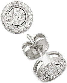 Diamond Stud Earrings (1/4 ct. t.w.) in Sterling Silver