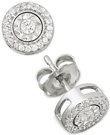 Diamond Stud Earrings (1/4 ct. t.w.) in Sterling Silver