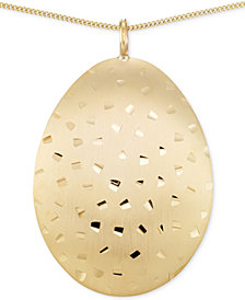 SIS by Simone I Smith Brushed Confetti Pendant Necklace in 14k Gold over Sterling Silver