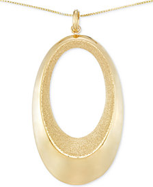 SIS by Simone I Smith Satin-Finished Openwork Pendant Necklace in 14k Gold over Sterling Silver