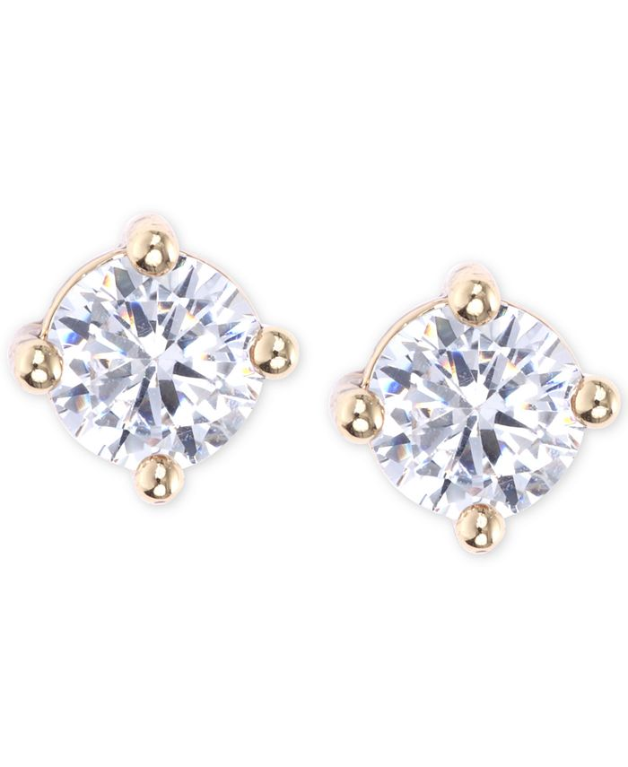 lonna & lilly - Gold-Toned Crystal Stud Earrings