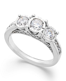 Three-Stone Diamond Ring in 14k White Gold (1 ct. t.w.)