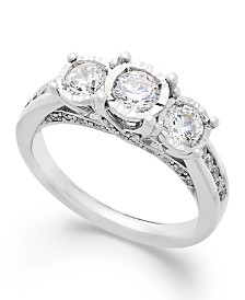 TruMiracle® Three-Stone Diamond Ring in 14k White Gold (1 ct. t.w.)