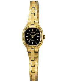 Pulsar Women's Dress Gold-Tone Stainless Steel Bracelet Watch 16mm PPH552