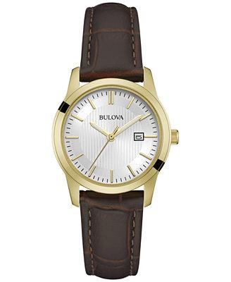 bulova s brown leather 30mm 97m114
