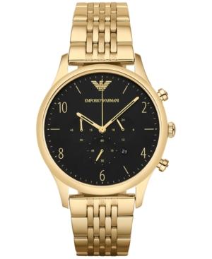 Emporio Armani Men's Chronograph Beta Gold-Tone Stainless Steel Bracelet Watch 41mm AR1893