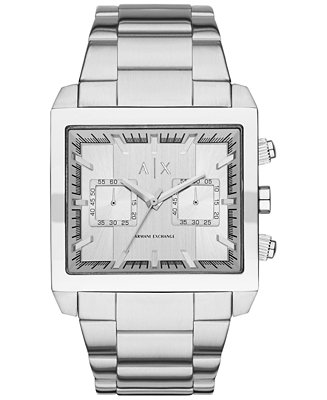 A/X Armani Exchange Men's Chronograph East-West Stainless