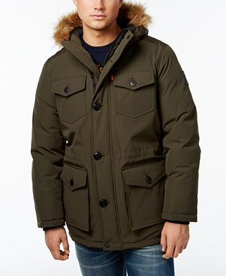 Levi's® Heavyweight Faux-Fur-Trim Hooded Parka - Coats & Jackets ...