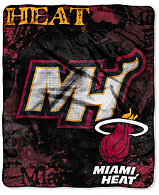 Northwest Company Miami Heat Raschel Shadow Blanket