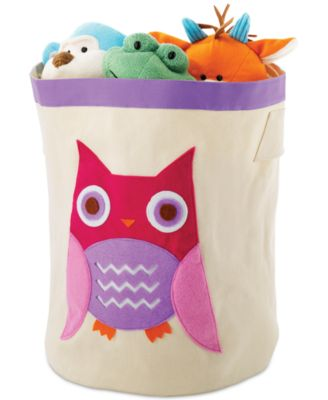 Charmant Whitmor Kids Canvas Storage Bin, Pink Owl