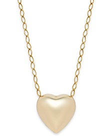 Polished Heart Pendant Necklace in 10k Gold