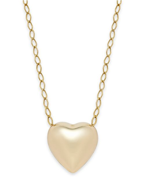 Macy's Polished Heart Pendant Necklace in 10k Gold