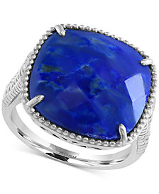 EFFY Lapis Lazuli Drama Ring (7-2/3 ct. t.w.) in Sterling Silver