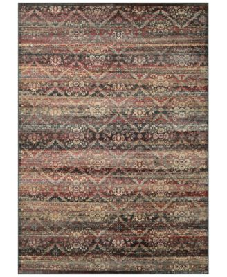 "CLOSEOUT! HARAZ HAR466 Red/Black 2' x 3'7"" Area Rug"