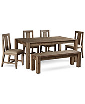 Canyon 6 Piece Dining Set Created For Macys 72 Table