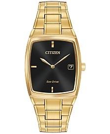 citizen eco drive watches macy s citizen men s eco drive gold tone stainless steel bracelet watch 44x32mm au1072 52e