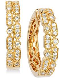 Vanilla® Deco Estate™ Gold Diamond (5/8 ct. t.w.) Hoop Earrings in 14k Gold