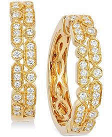 Le Vian® Vanilla® Deco Estate™ Gold Diamond (5/8 ct. t.w.) Hoop Earrings in 14k Gold