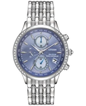 Citizen Women's World Chronograph A-t Eco-Drive Diamond Acce