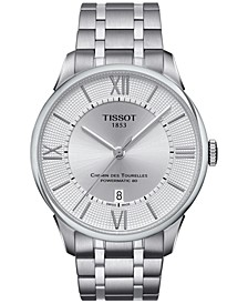 Men's Swiss Automatic Chemin Des Tourelles Stainless Steel Bracelet Watch 42mm T0994071103800
