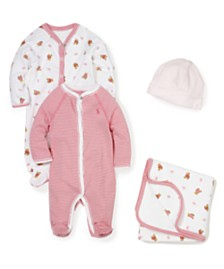 Ralph Lauren Baby Girls Little Wonders Precious Pink Essentials