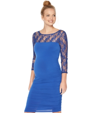 Motherhood Maternity Lace Illusion Sheath Dress plus size,  plus size fashion plus size appare