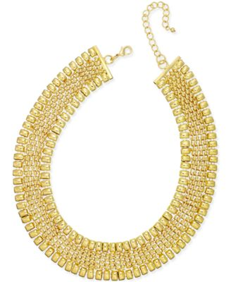 Image of Thalia Sodi Gold-Tone Wide Collar Necklace, Created for Macy's